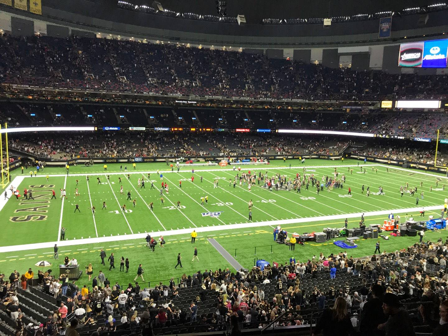 Mercedes-Benz Superdome Section 310 Row 13 Seat 6