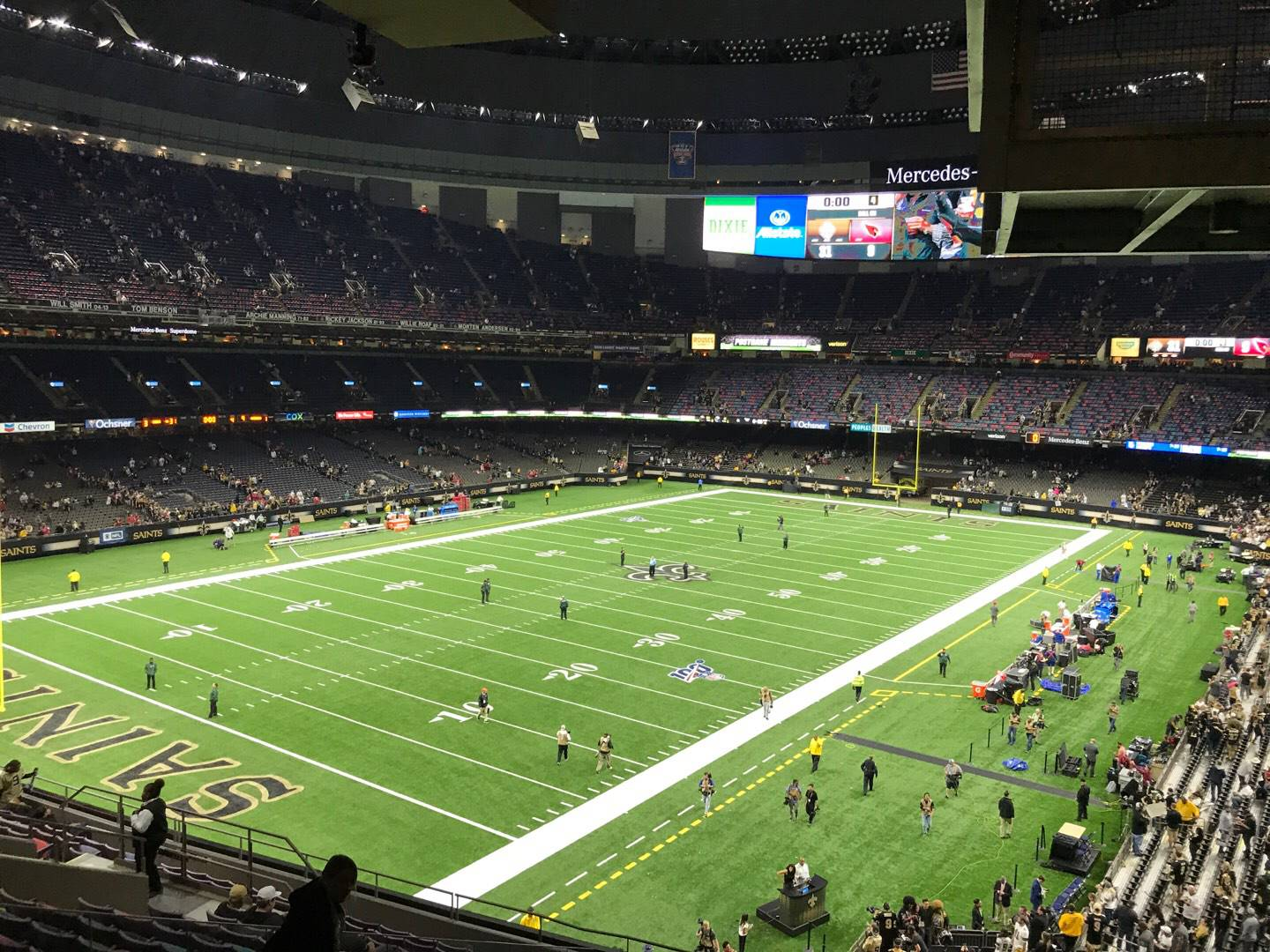 Mercedes-Benz Superdome Section 344 Row 17 Seat 4