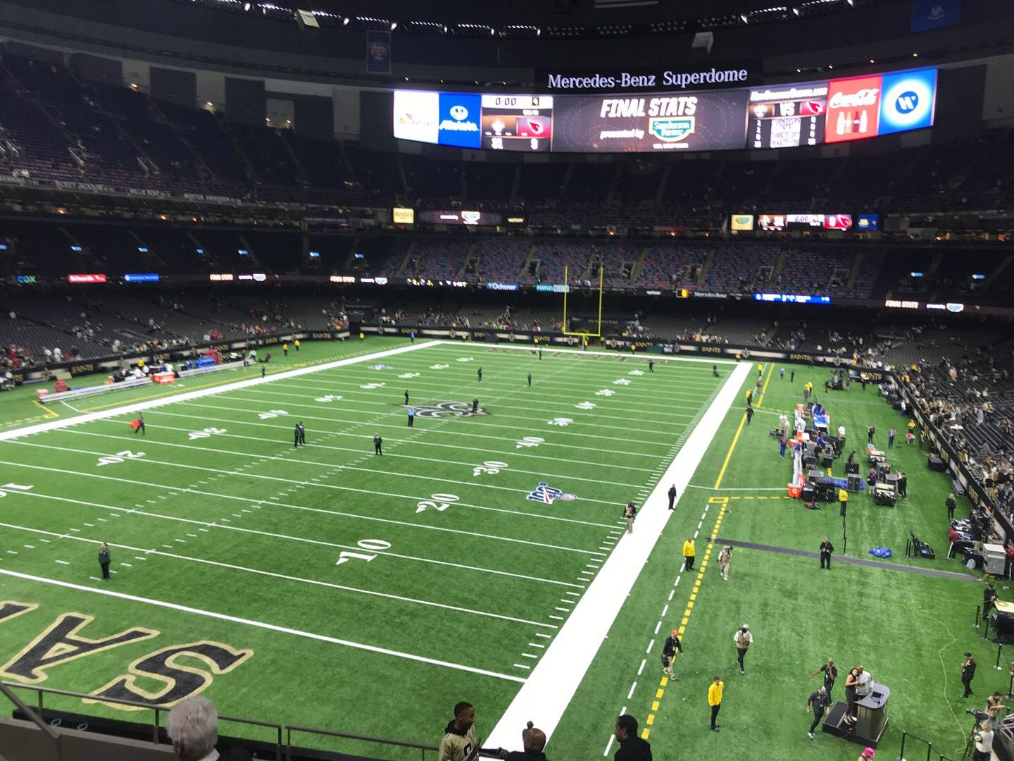 Mercedes-Benz Superdome Section 345 Row 10 Seat 13