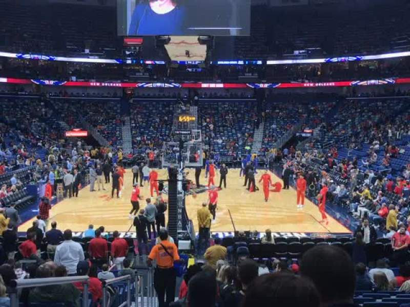 Smoothie King Center Section 106 Row 17 Seat 15