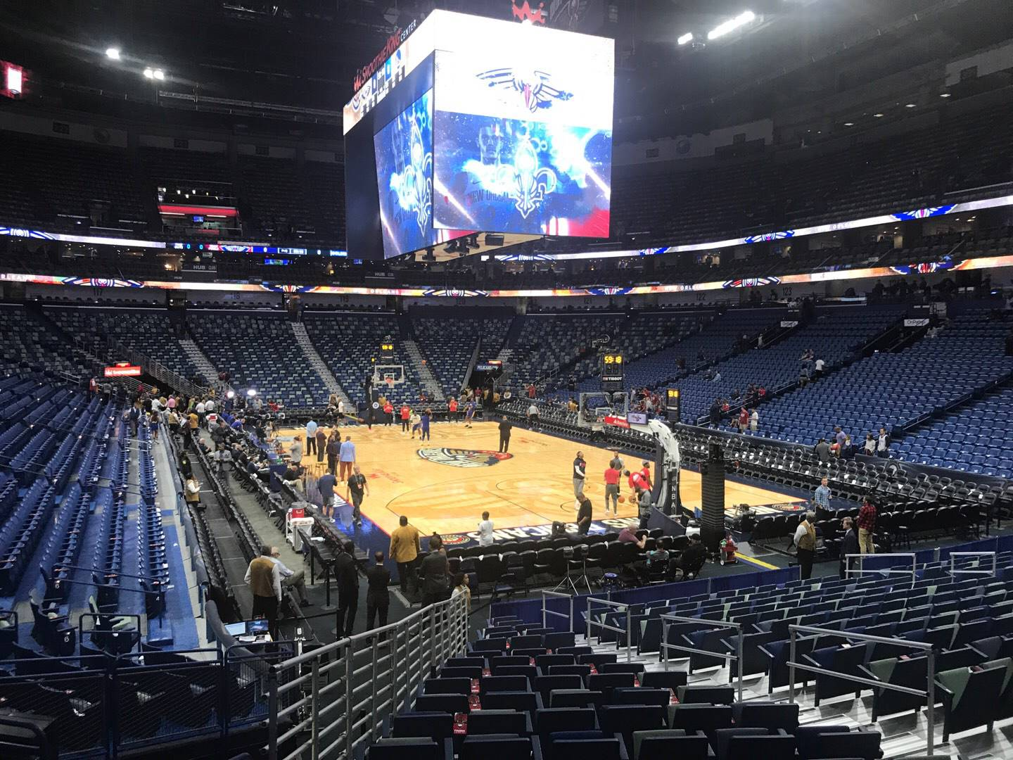 Smoothie King Center Section 108 Row 18 Seat 8