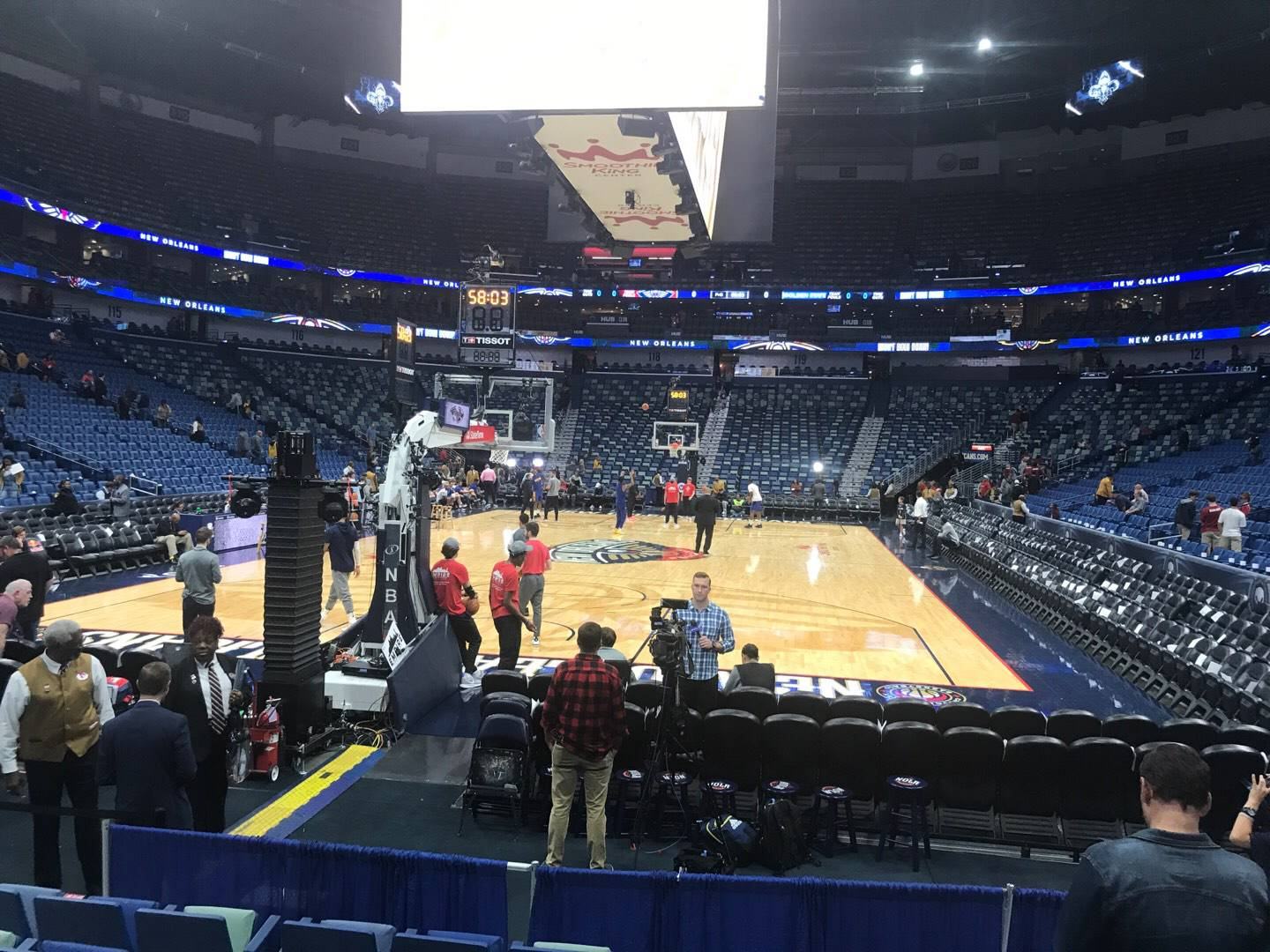 Smoothie King Center Section 106 Row 6 Seat 5