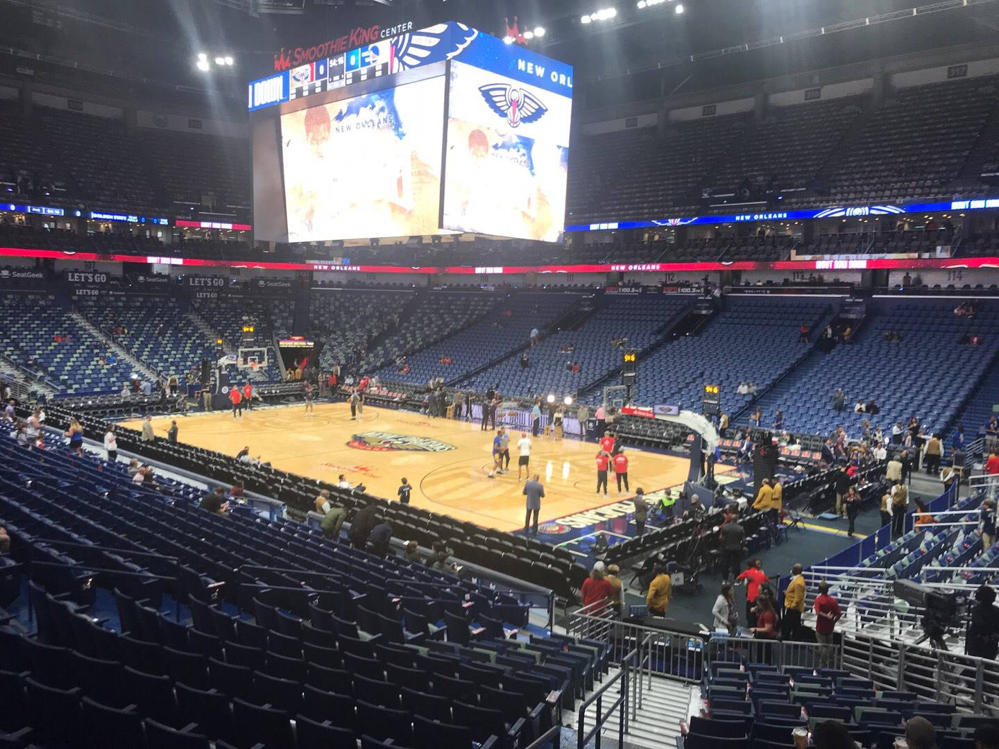 Smoothie King Center Section 121 Row 22 Seat 19