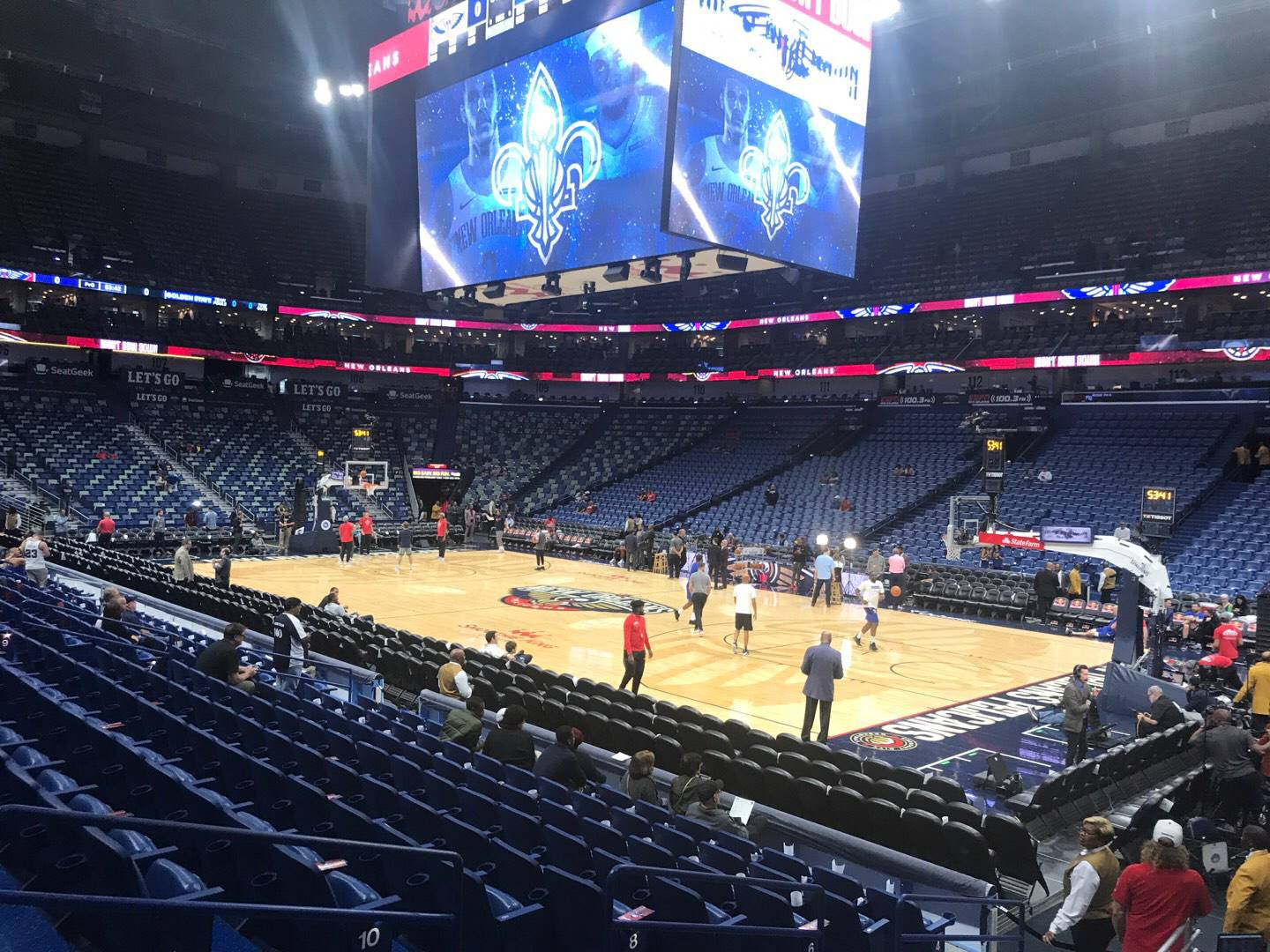 Smoothie King Center Section 122 Row 14 Seat 4