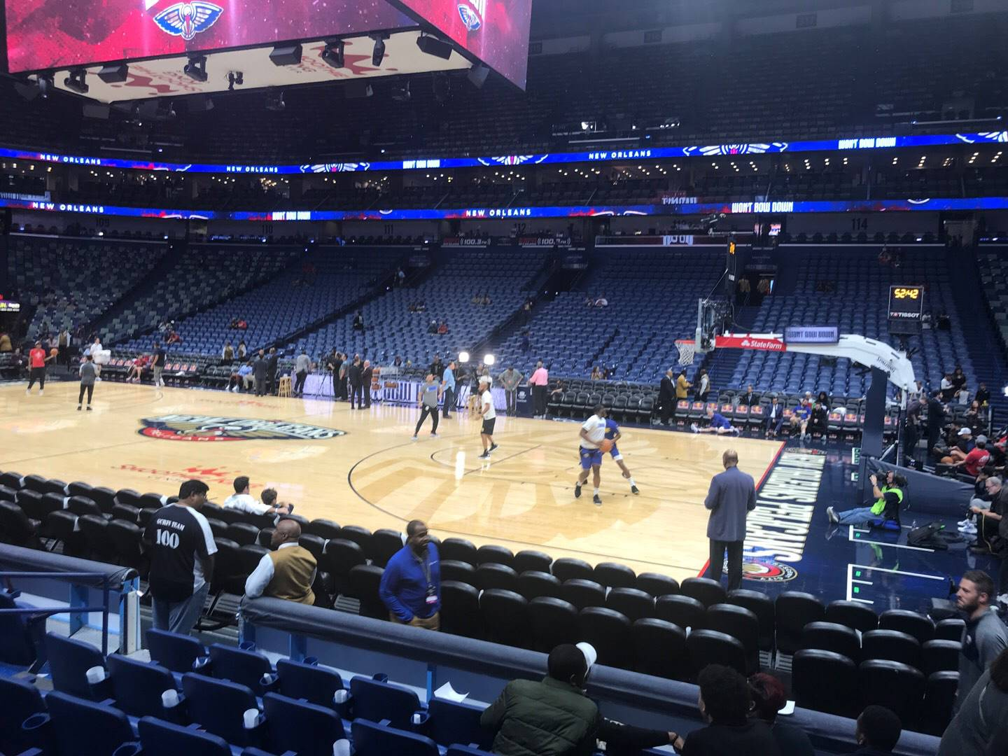 Smoothie King Center Section 123 Row 10 Seat 8