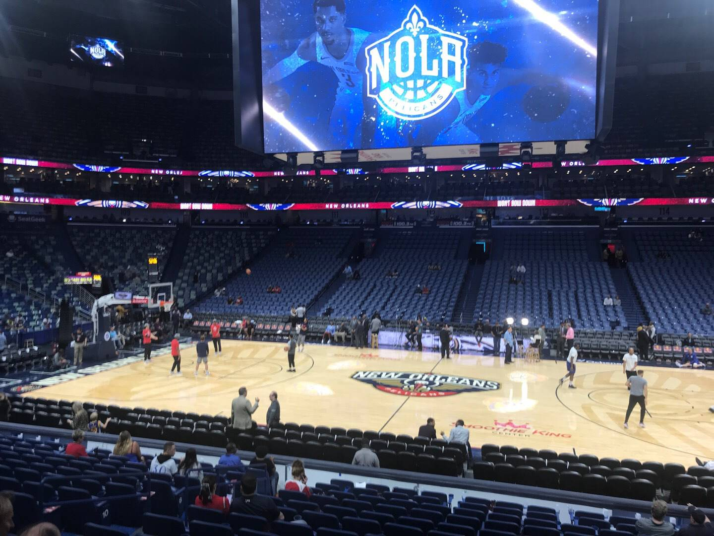 Smoothie King Center Section 124 Row 18 Seat 11