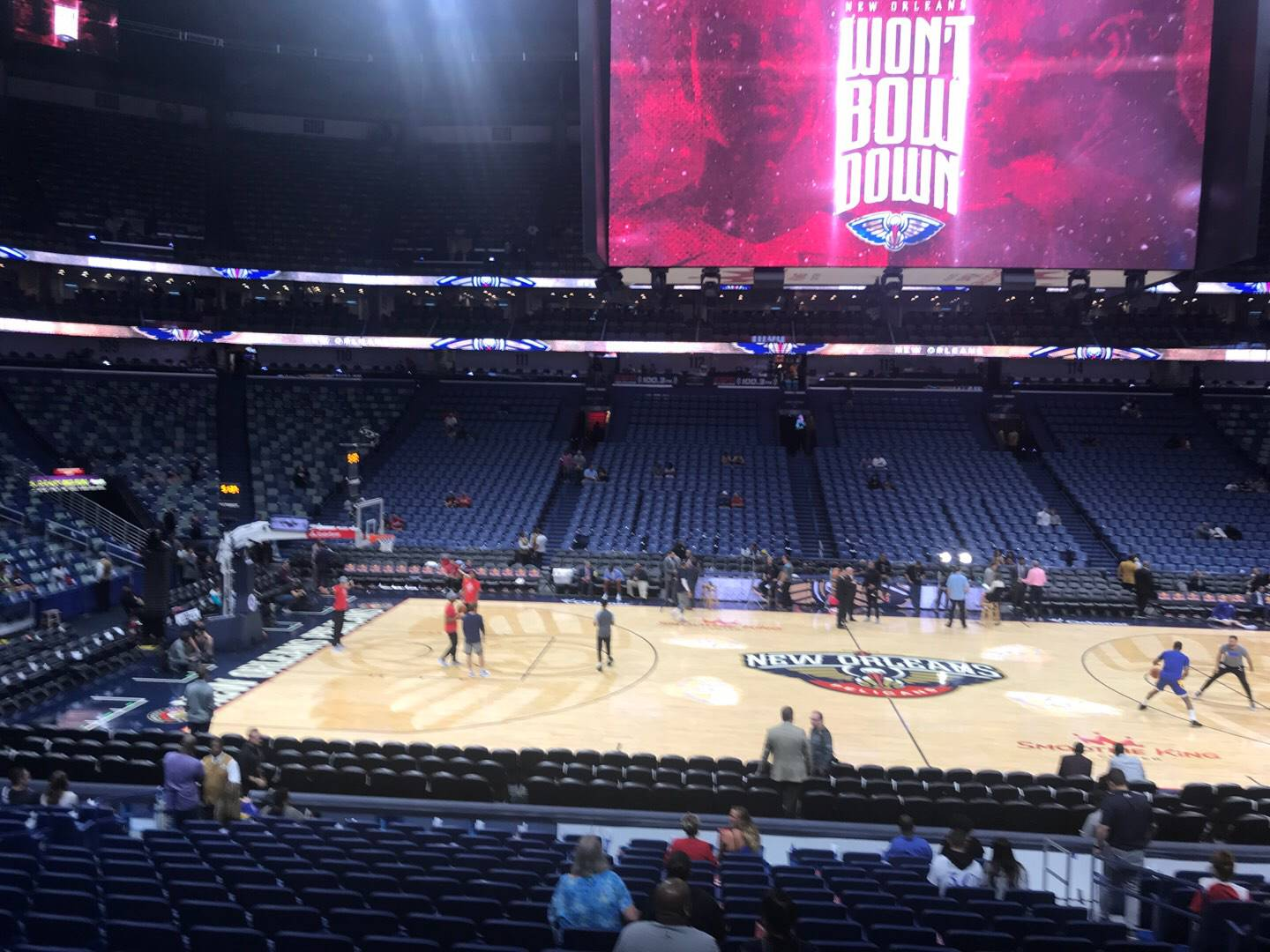 Smoothie King Center Section 101 Row 20 Seat 6
