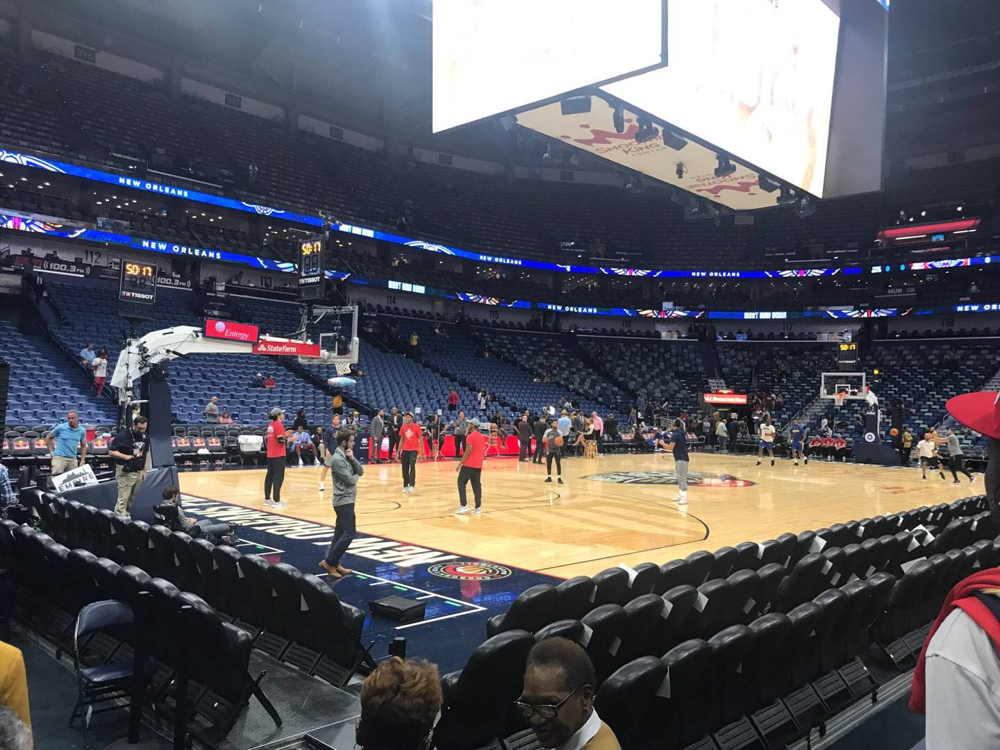 Smoothie King Center Section 103 Row 5 Seat 2