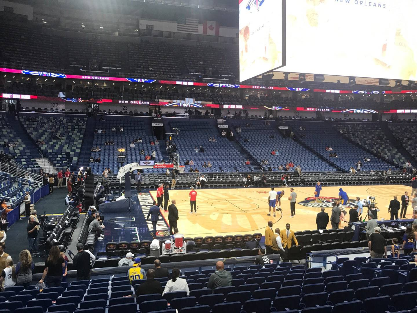 Smoothie King Center Section 114 Row 17 Seat 11