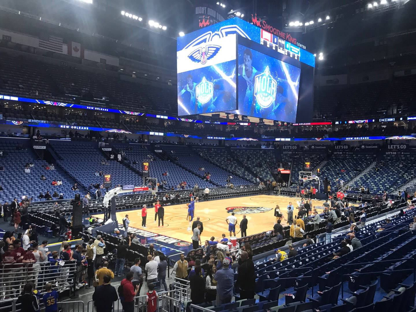 Smoothie King Center Section 116 Row 18 Seat 3