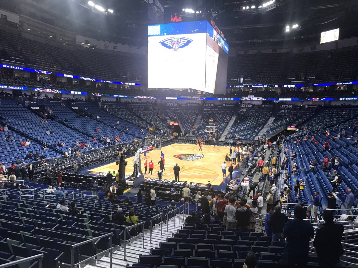 Smoothie King Center Section 117 Row 23 Seat 16