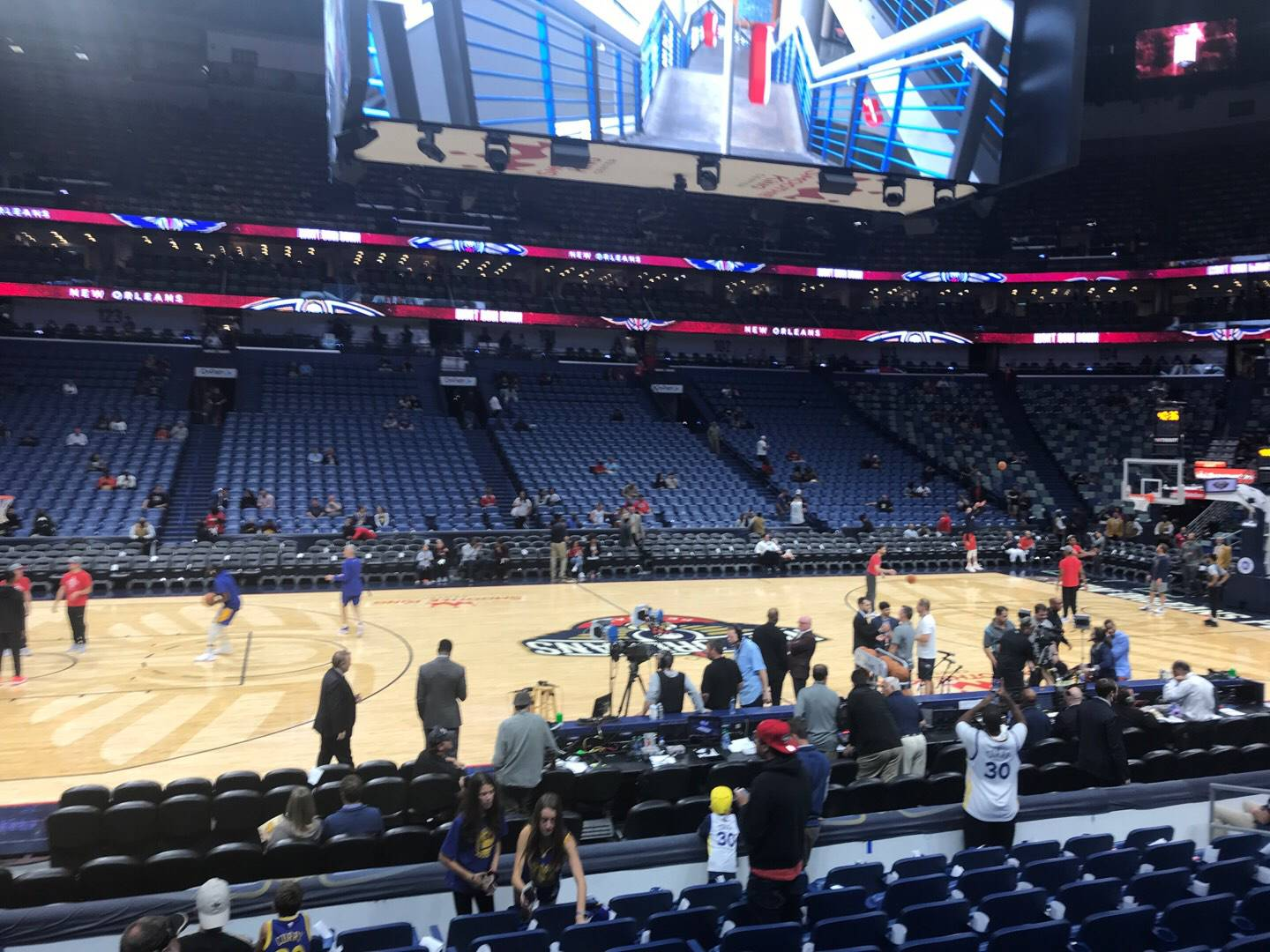 Smoothie King Center Section 113 Row 13 Seat 14