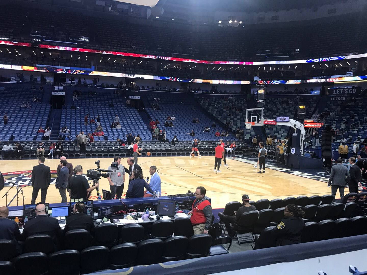 Smoothie King Center Section 112 Row 8 Seat 15