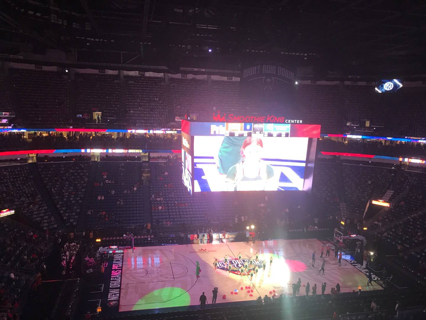 Smoothie King Center Section 301 Row 7 Seat 15