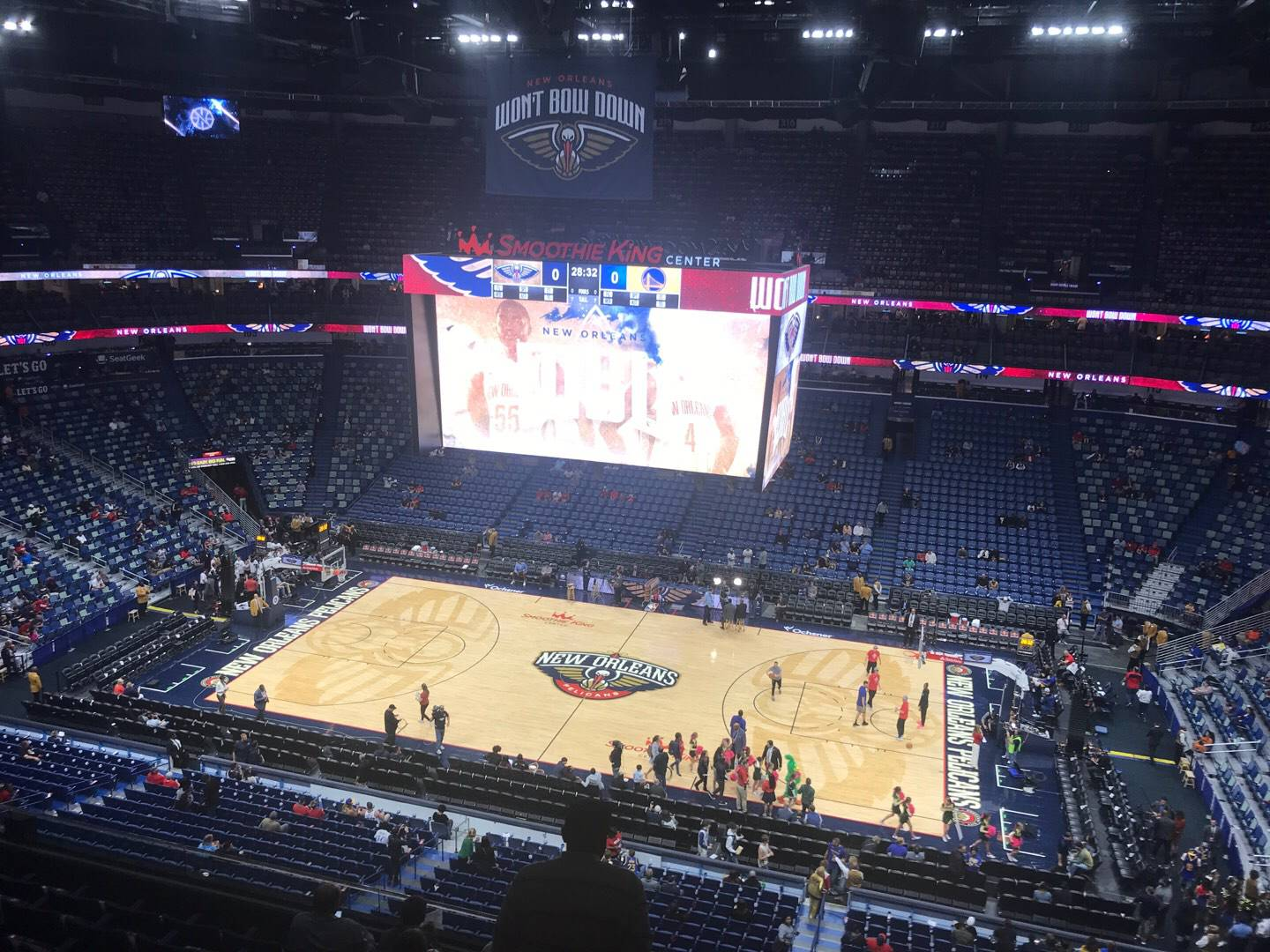 Smoothie King Center Section 331 Row 8 Seat 6