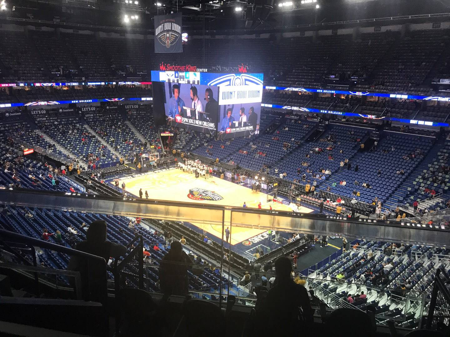 Smoothie King Center Section 328 Row 7 Seat 9