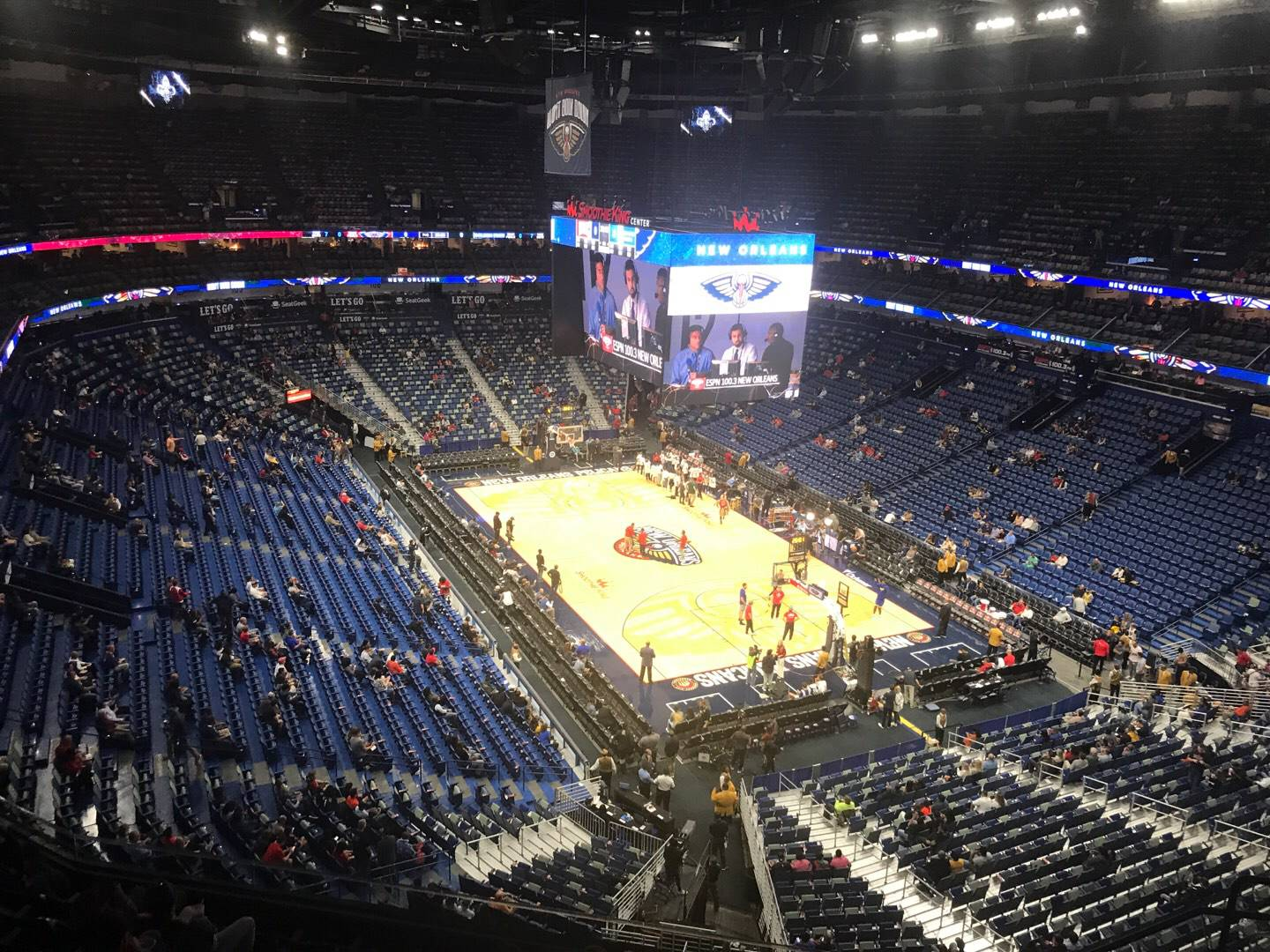 Smoothie King Center Section 327 Row 9 Seat 6