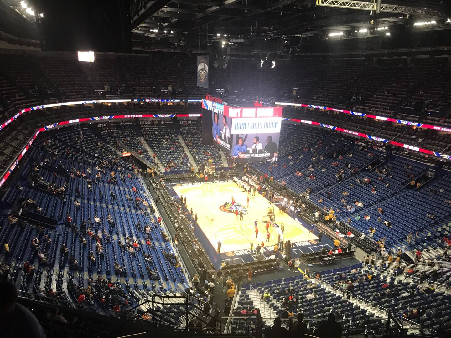 Smoothie King Center Section 326 Row 13 Seat 18