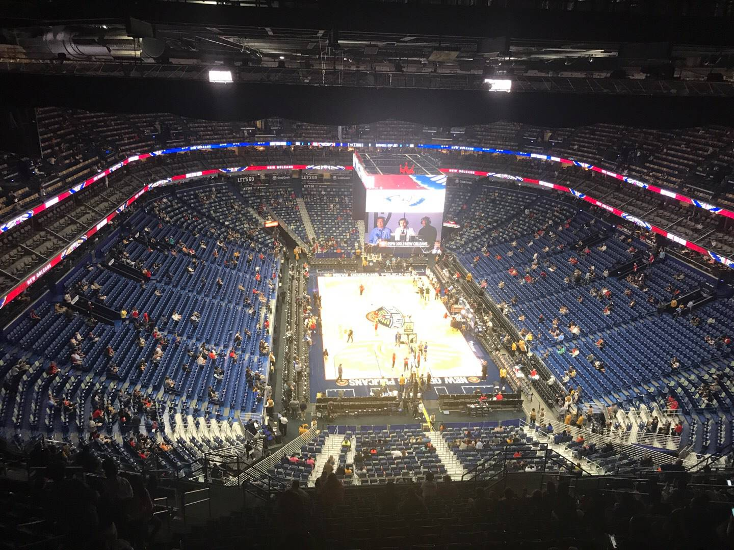 Smoothie King Center Section 325 Row 20 Seat 12