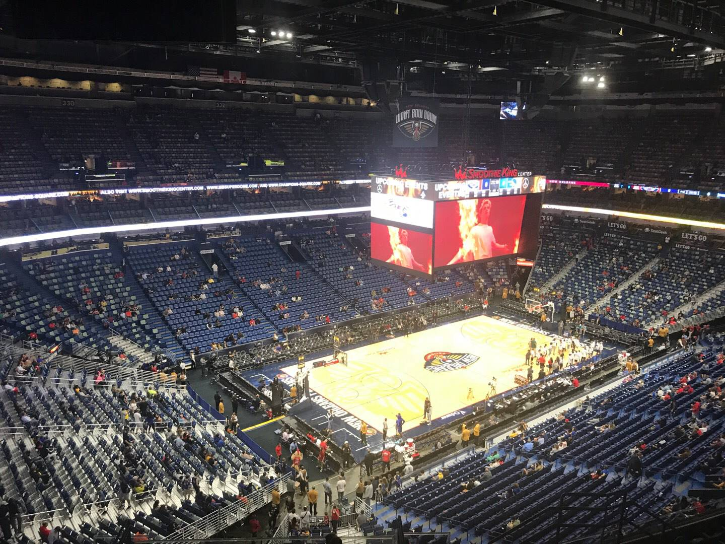 Smoothie King Center Section 320 Row 11 Seat 9
