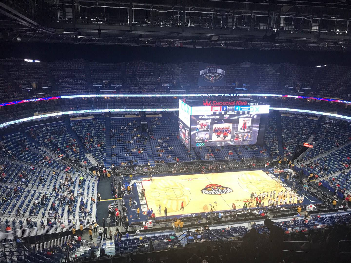 Smoothie King Center Section 318 Row 19 Seat 9