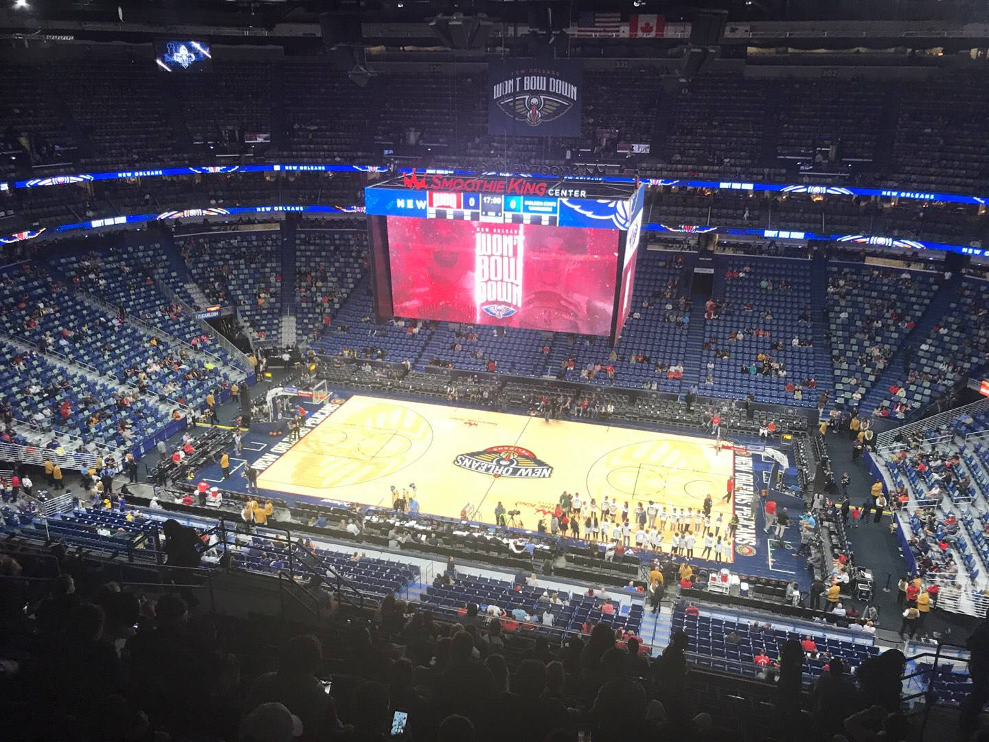 Smoothie King Center Section 315 Row 15 Seat 7
