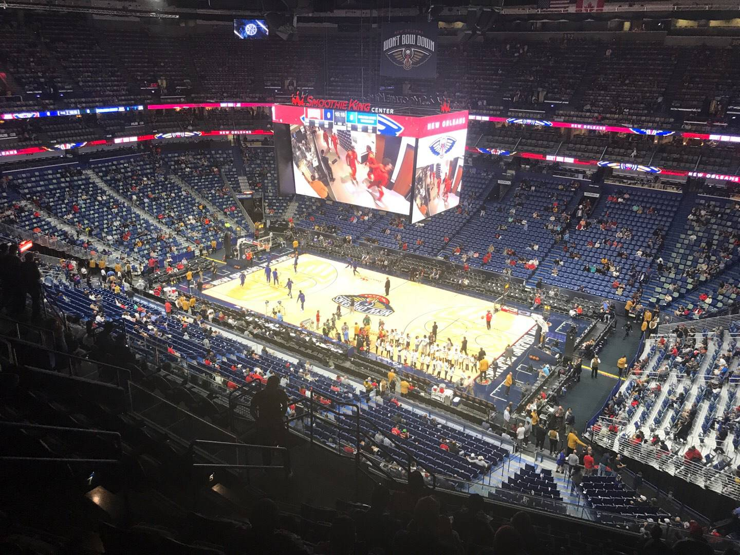 Smoothie King Center Section 313 Row 12 Seat 14