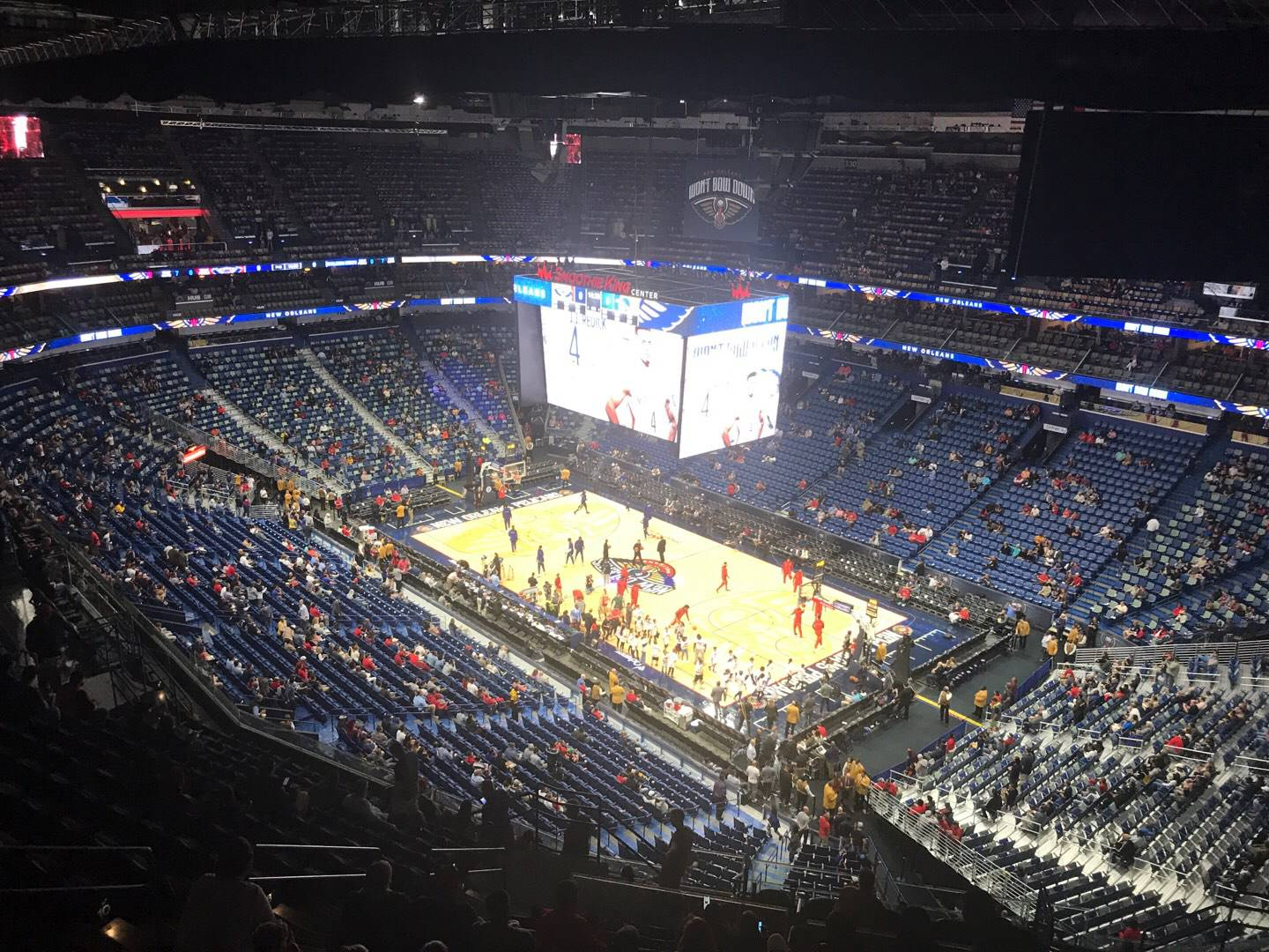 Smoothie King Center Section 312 Row 17 Seat 14