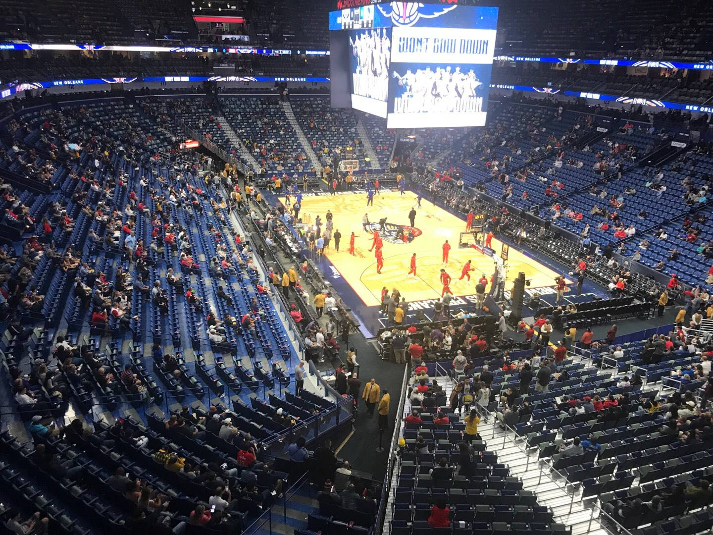 Smoothie King Center Section 310 Row 1 Seat 1