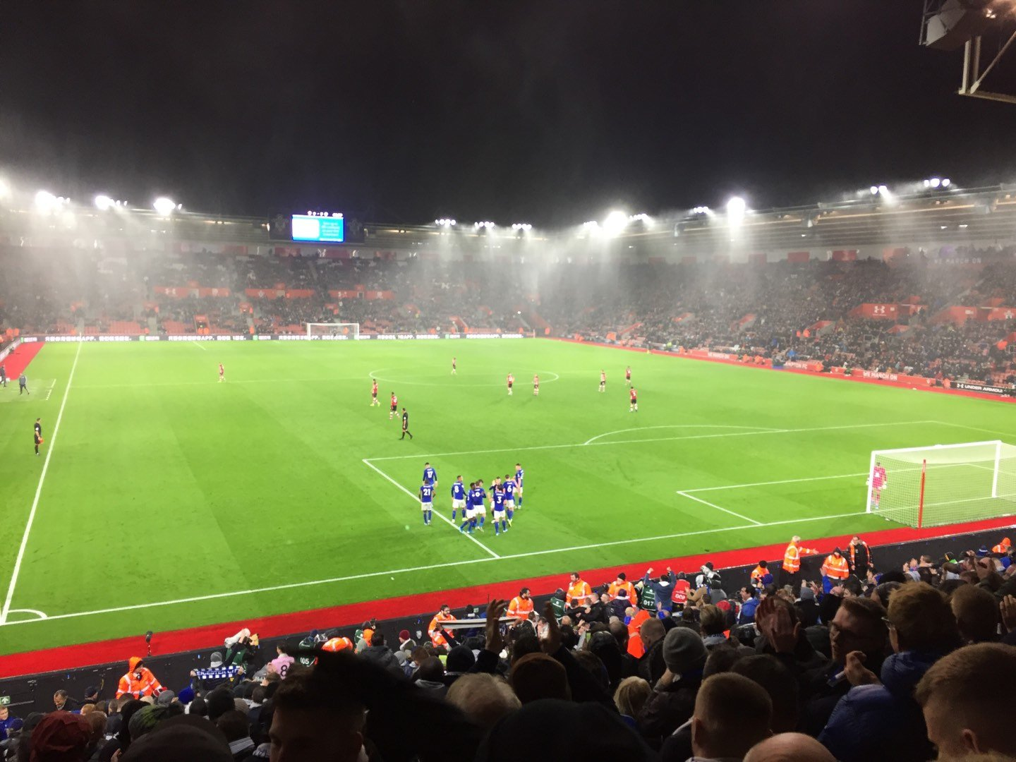 St Mary's Stadium Section 45 Row Y Seat 1179