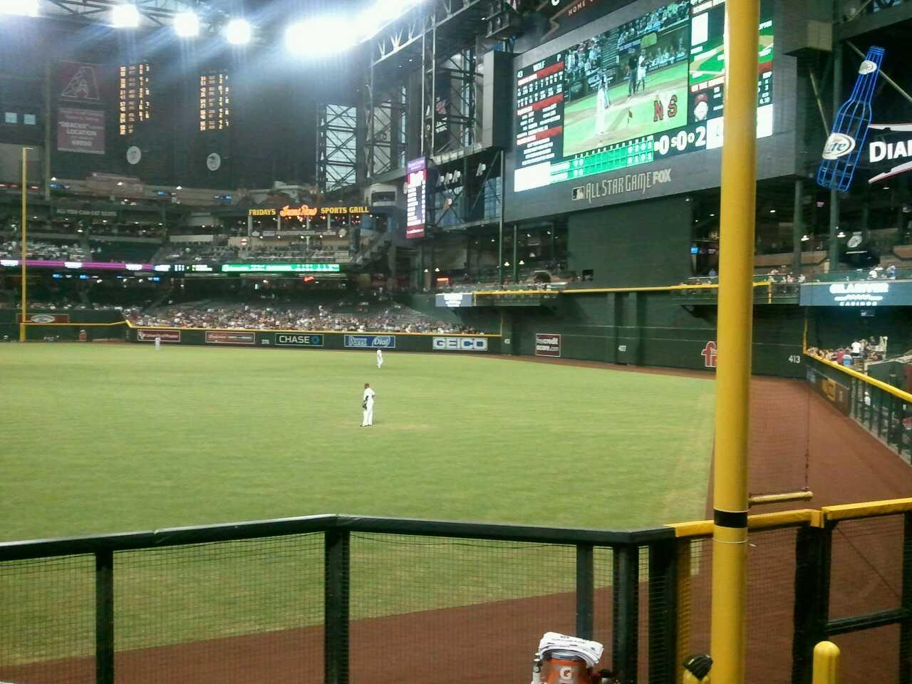 Chase Field Section 108 Row 25 Seat 9