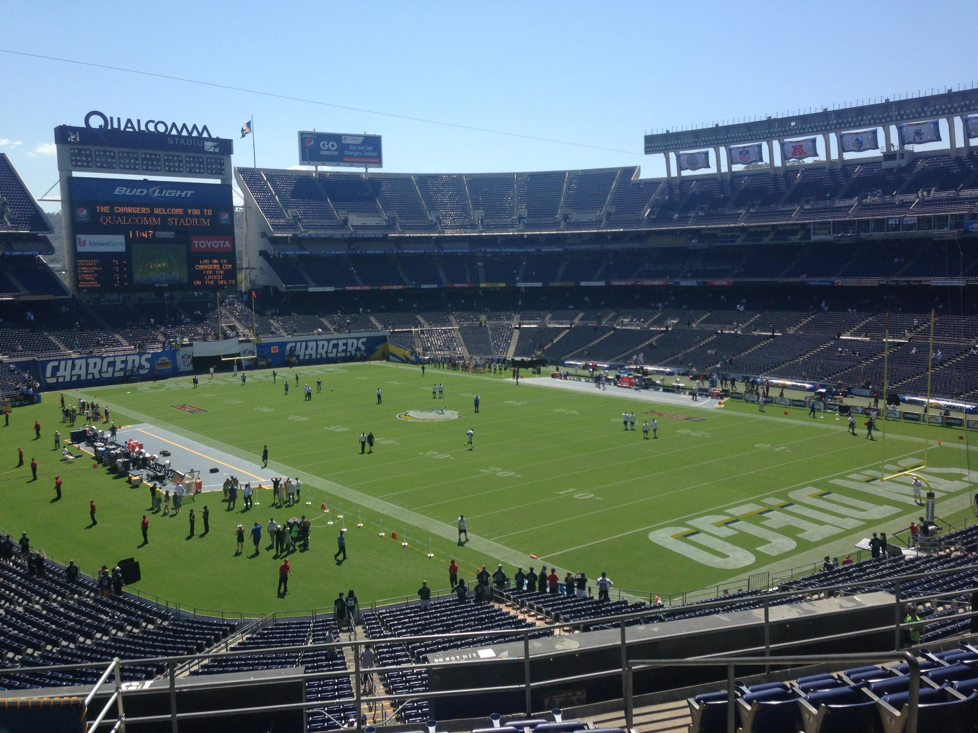 Qualcomm Stadium Section Loge 15 Row 10 Seat 9 San Diego