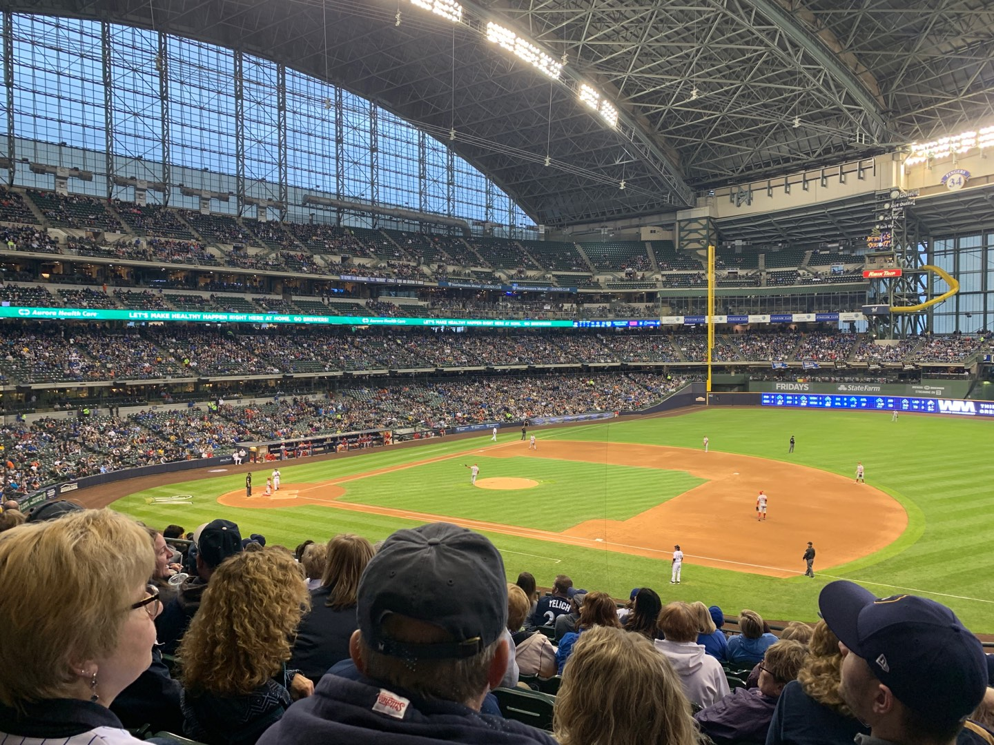 Miller Park Section 211 Row 11 Seat 12
