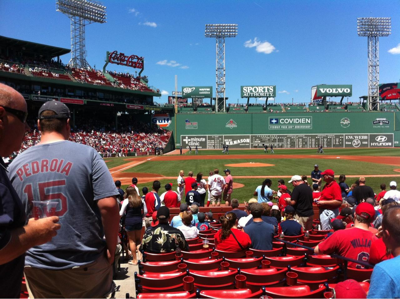 Fenway Park Section Field Box 35 Row M Boston Red Sox Vs