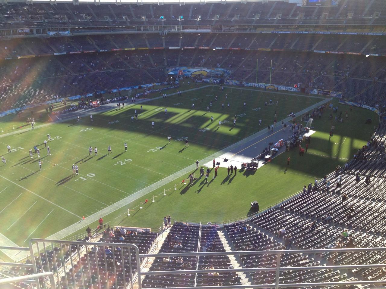 San Diego Stadium Section V59 Row 5 Seat 6