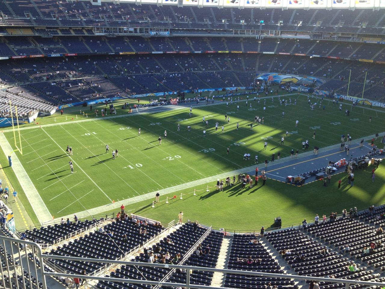 Qualcomm Stadium Section V60 Row 6 Seat 10 San Diego