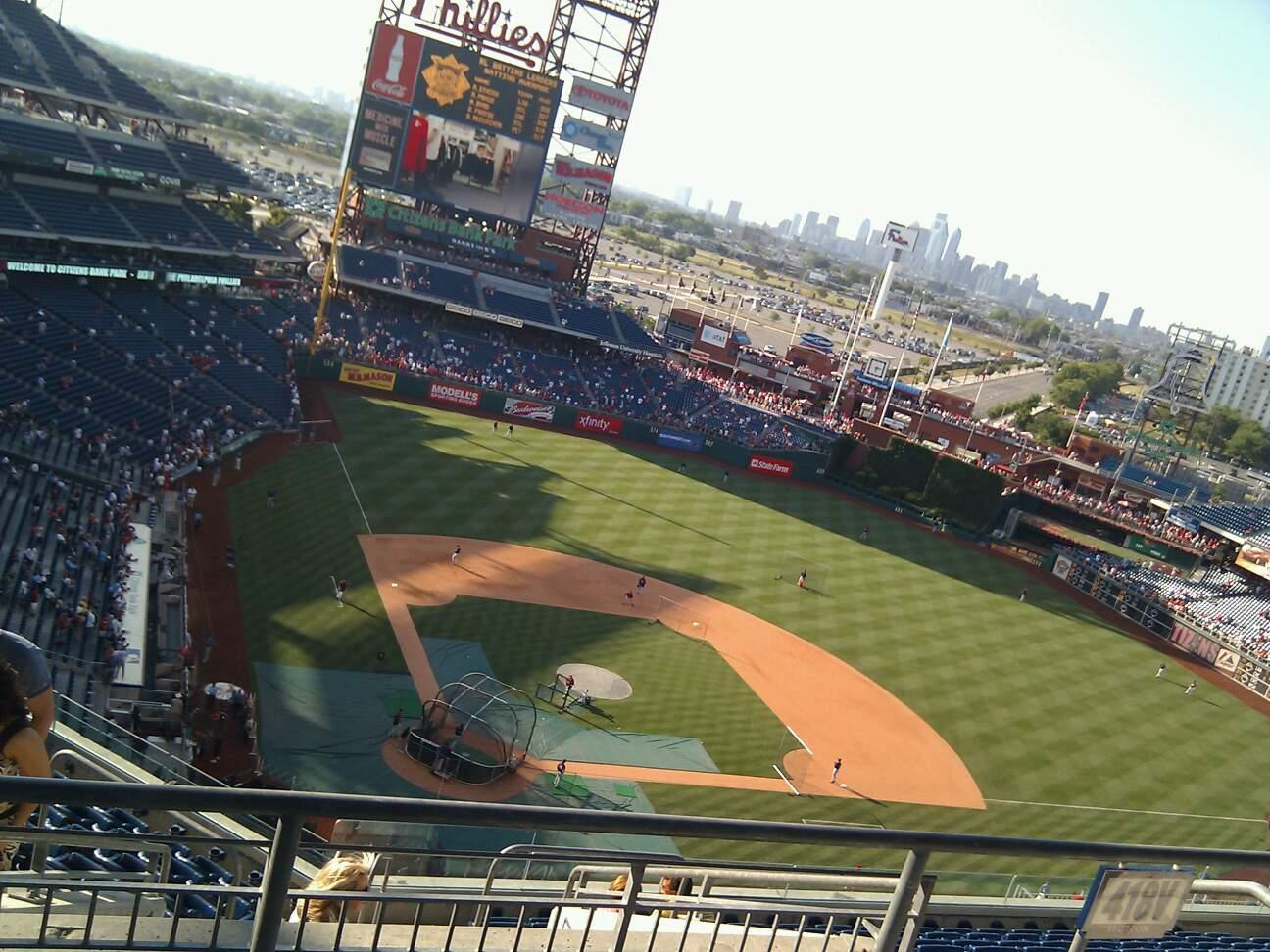 Citizens Bank Park Section 418 Row 12 Seat 27
