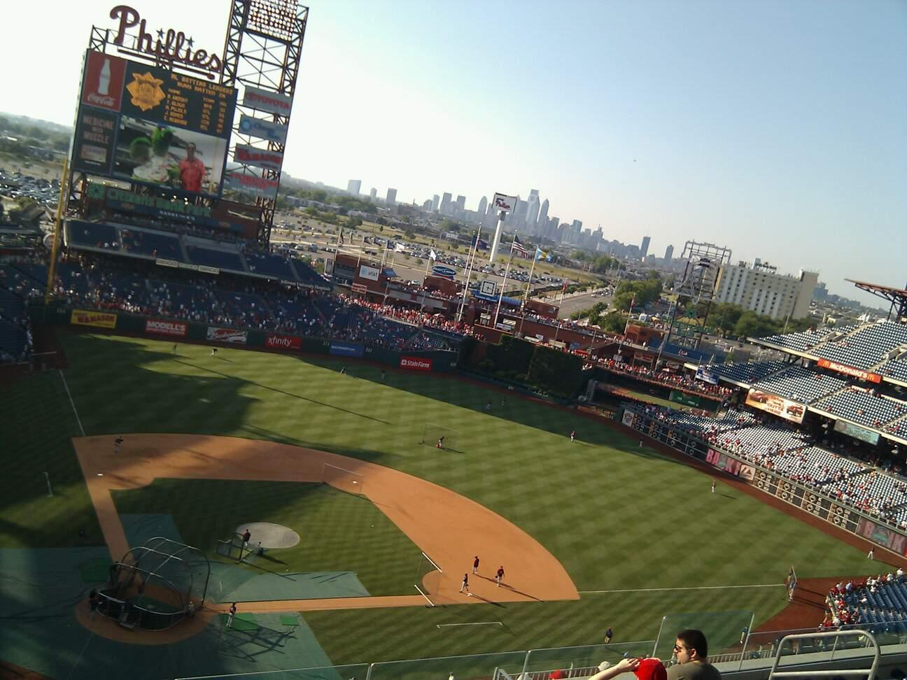 Citizens Bank Park Section 418 Row 7 Seat 13