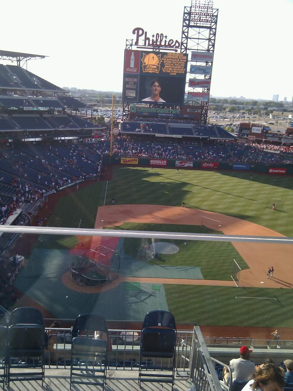 Citizens Bank Park Section 417 Row 1 Seat 3