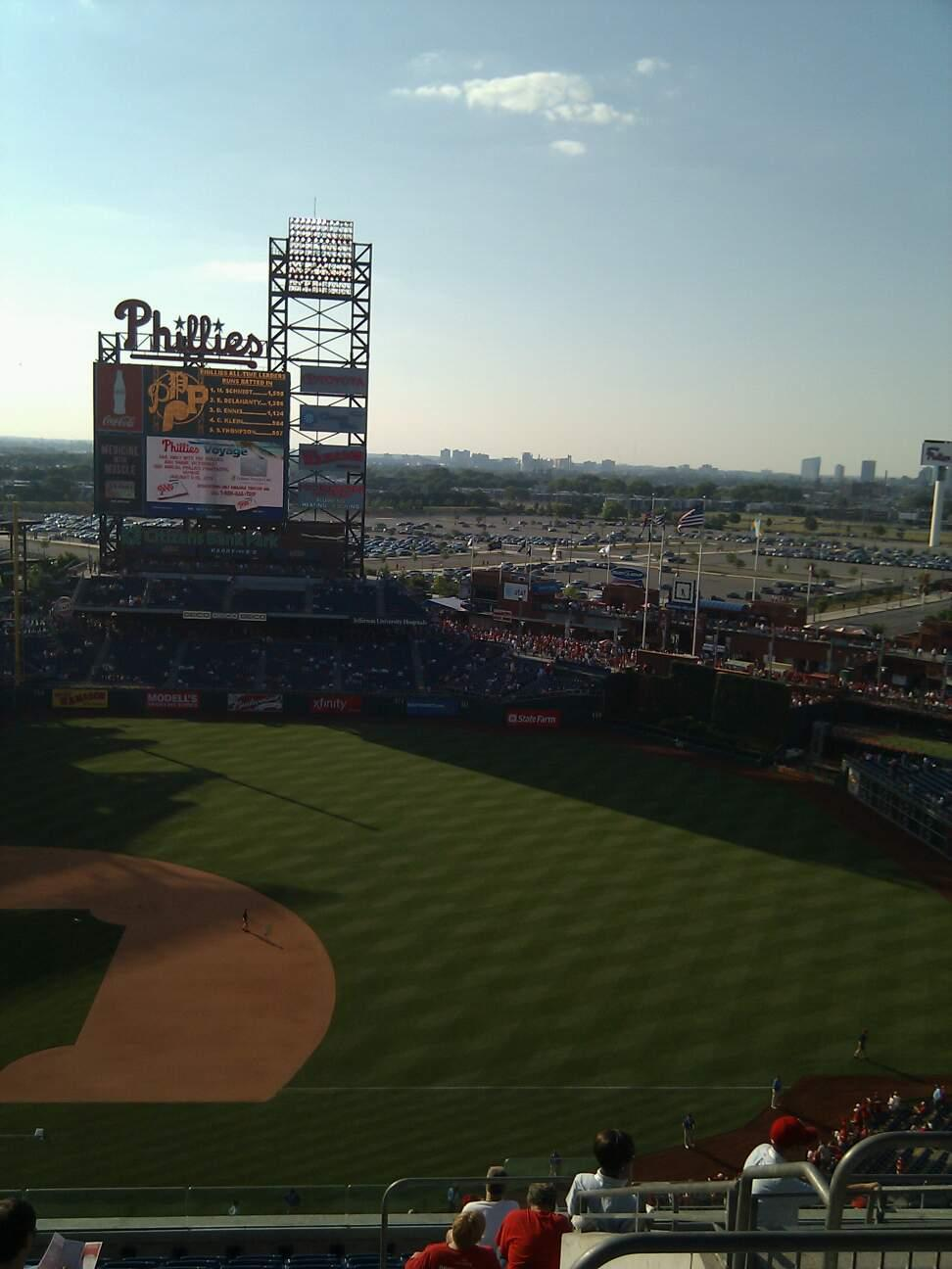 Citizens Bank Park Section 414 Row 13 Seat 4