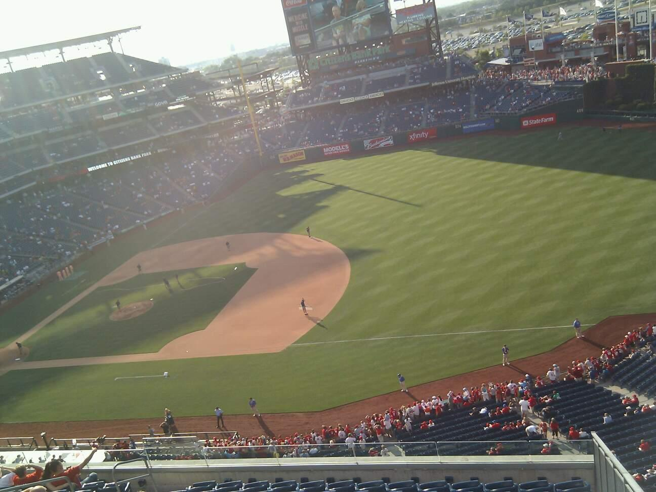 Citizens Bank Park Section 412 Row 1 Seat 1