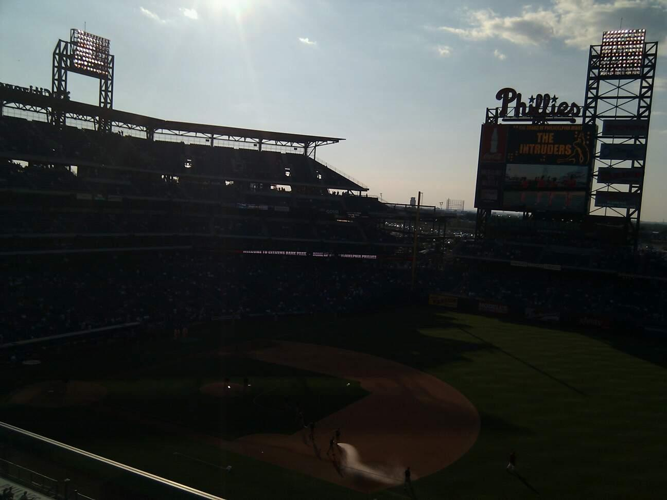 Citizens Bank Park Section 312 Row 2 Seat 9