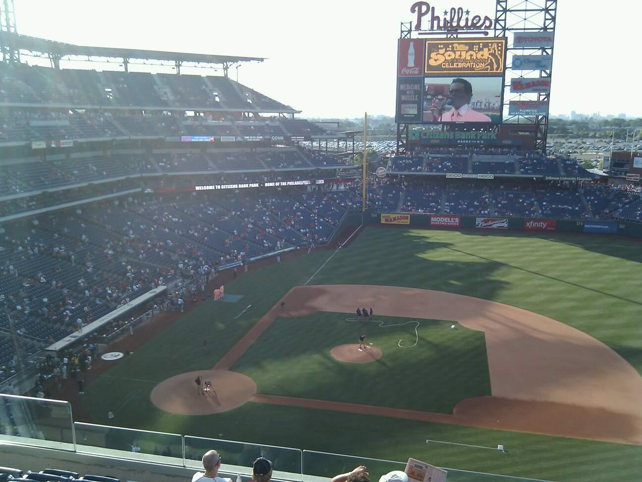 Citizens Bank Park Section 315 Row 8 Seat 15