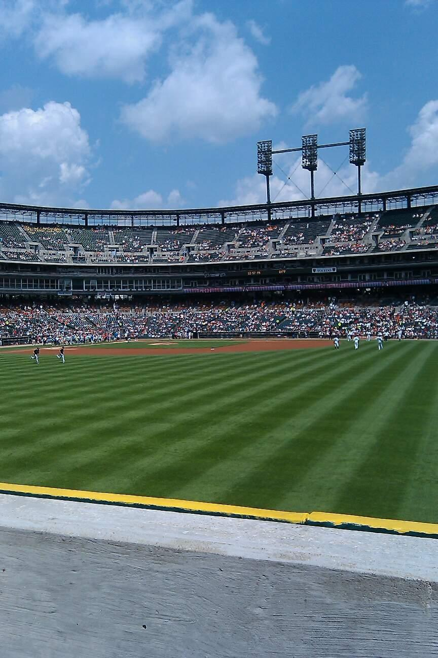 Comerica Park Section 117 Row g Seat 1