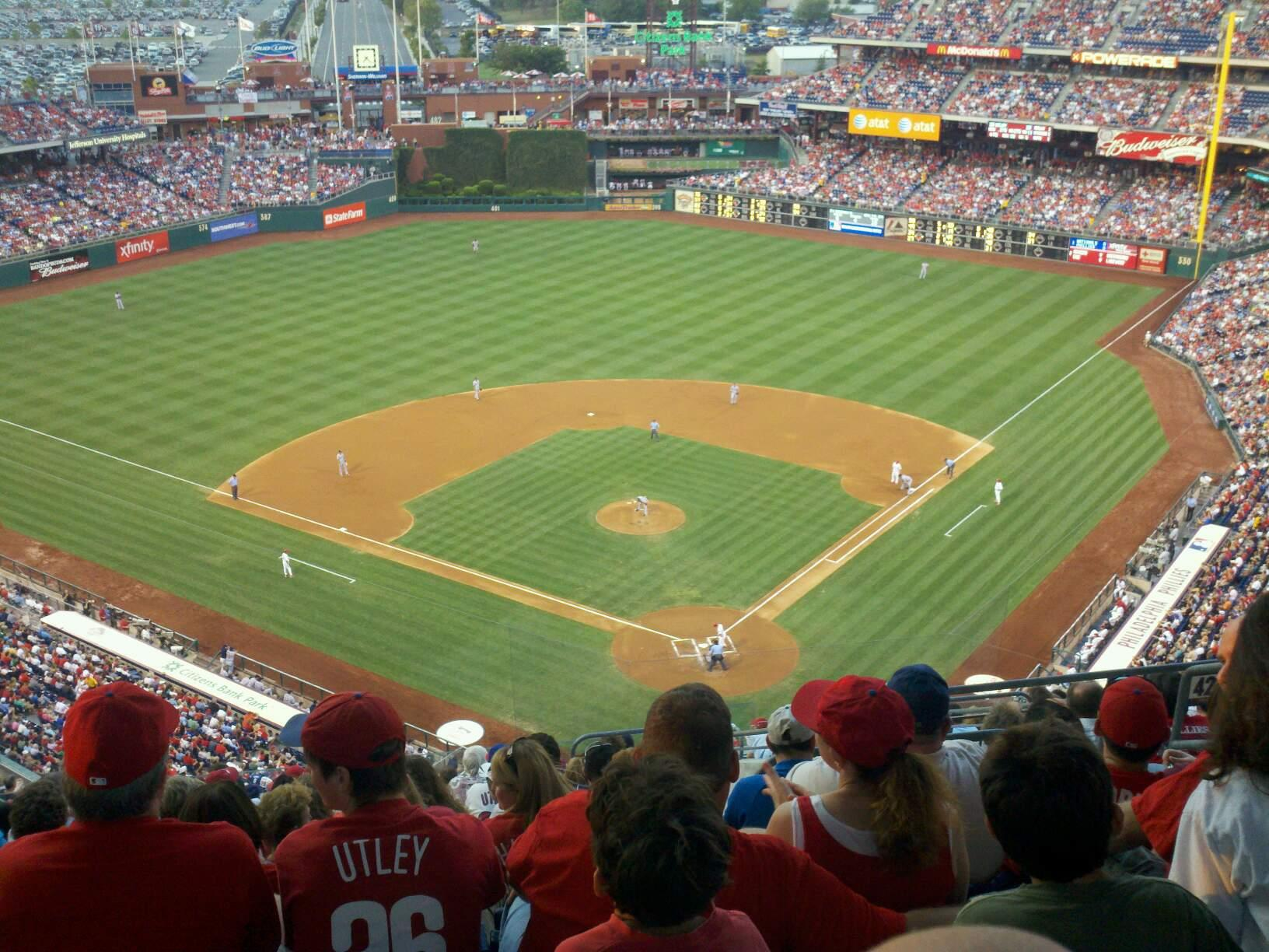 Citizens Bank Park Section 422 Row 16 Seat 6