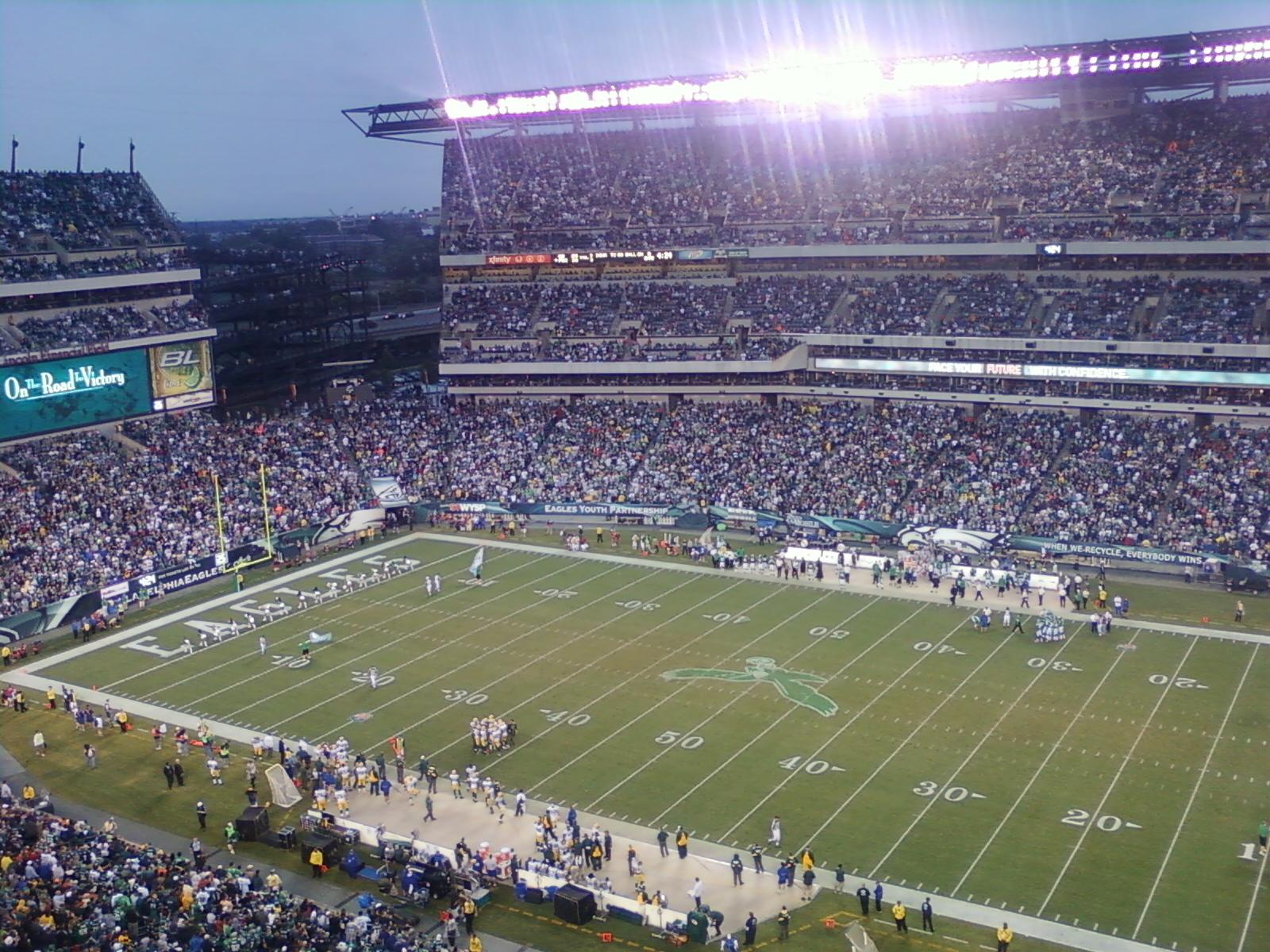 Lincoln Financial Field Section 228 Row 9 Seat 15