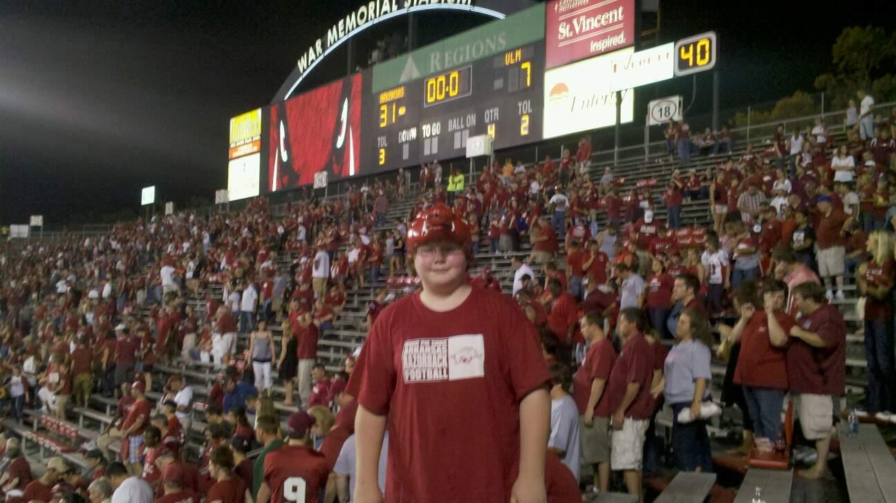 Razorback Stadium Section 20 Row 35 Seat 9