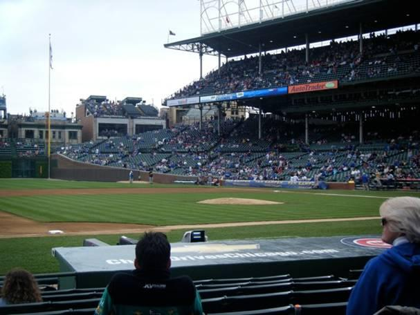 Wrigley Field Section 9 Row 11 Seat 6