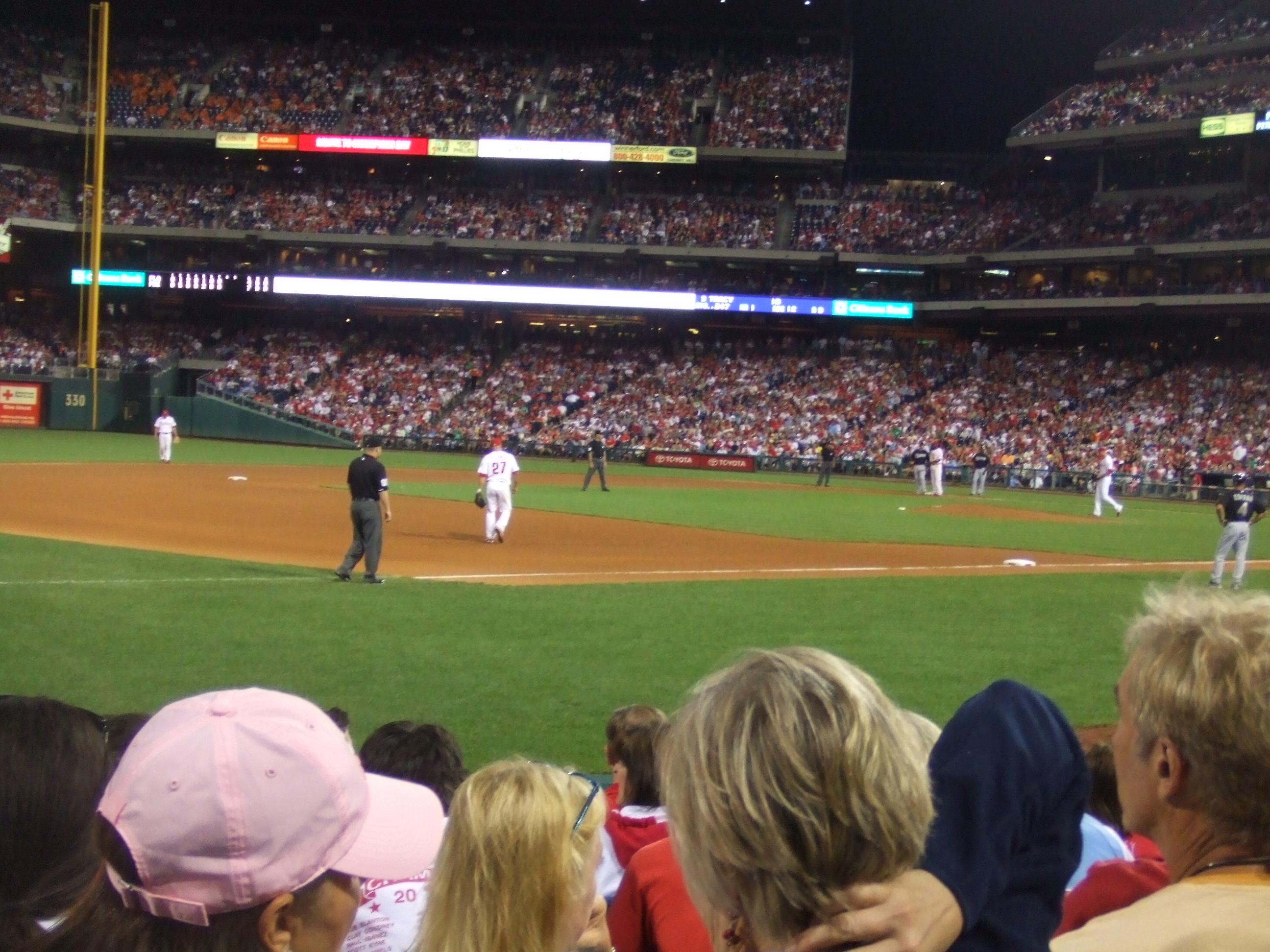 Citizens Bank Park Section 134 Row 8 Seat 11