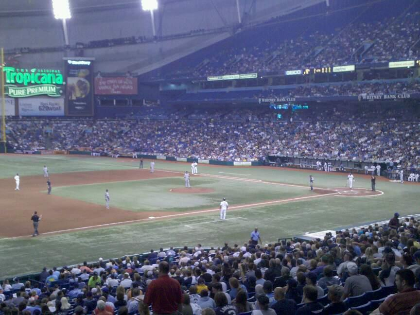 Tropicana Field Section 213 Row A Seat 5